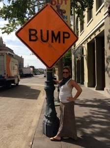 "Flashin' ""the bump"" on the streets of New Orleans. I told you the food was GOOD!"