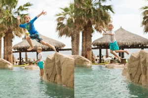 Have I mentioned my boys love to jump off things?!