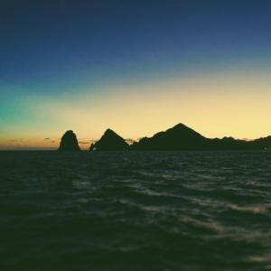 Sea of Cortez as sunset
