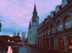 One of the famous churches in downtown New Orleans. My amazingly talented hubby takes these cool pics!